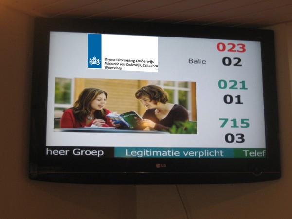 OCW DUO LCD presentatie met volgnummers