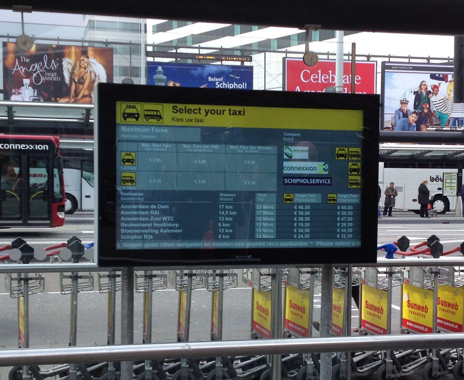 Schiphol LCD 55 inch 2
